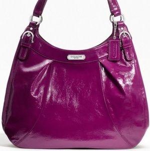 Coach Fuchsia Purple Patent Leather Hobo